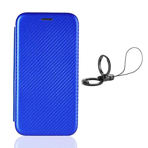 HAOREN Hülle für Samsung Galaxy Z Fold2 5G Handyhülle Brieftasche, Schutzhülle mit Kartensteckplätzen Anti-Scratch PC Panel + Stoßfeste TPU Innenschutzabdeckung + Ring Halterungen. Blau