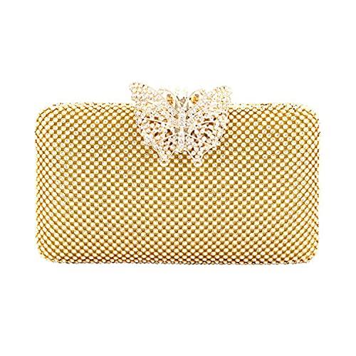Women Evening Handbags Rhinestone Glitter Clutch Purse for Dance Wedding Party Prom Bride