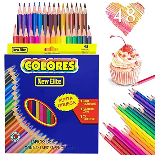 Farbstifte,48 PCS Buntstifte Kinder,Buntstiften Set,Farbstifte Kinder,Farbe Holzstifte,Holzstifte Schulsachen,Bundstifteset Bleistifte,Mehrfarbige Kunst Bleistifte,Holz Buntstifte