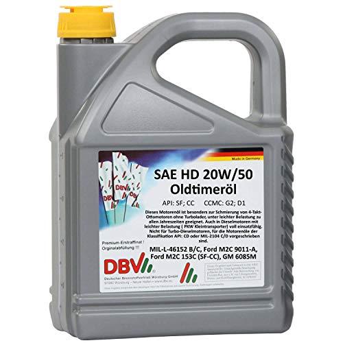 5 Liter DBV SAE HD 20W - 50 (Oldtimeröl)