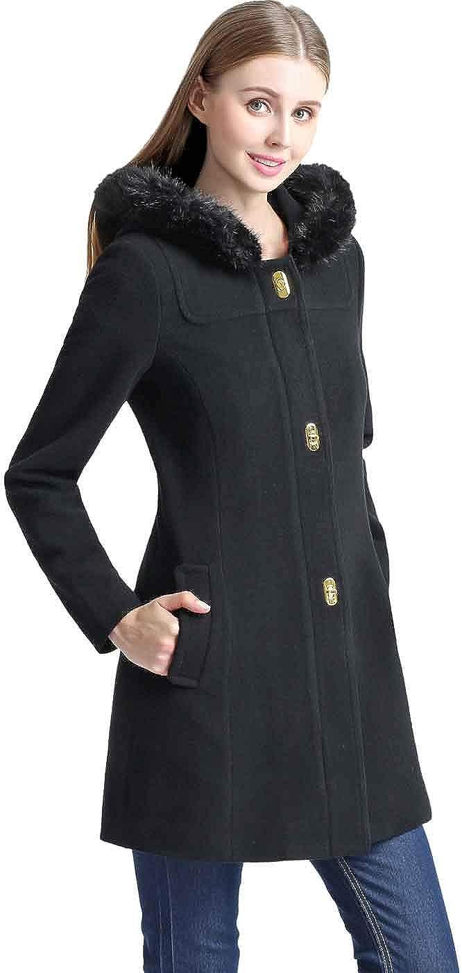 BGSD Women's Lana Wool Blend Hooded Parka Coat (Regular, Plus Size & Short)
