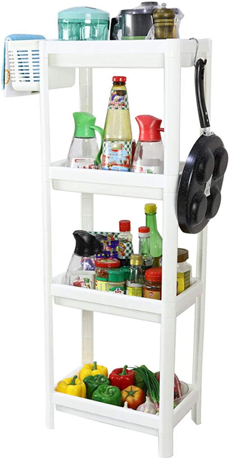 Kitchen Storage Shelf Multifunctional Plastic Bathroom Shelf Toilet Kitchen 4-Layer Storage Rack Organisation