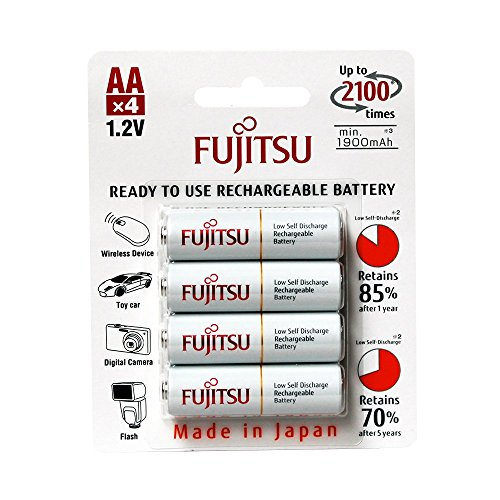 Fujitsu HR-3UTCEX(4B) 4-Pack AA 2100 Cycle Ni-MH Pre-Charged Rechargeable Batteries (Made in Japan)