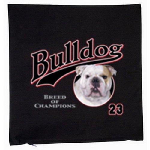 Bouledogue anglais chiens housse de coussin 40 x 40 cm (noir)