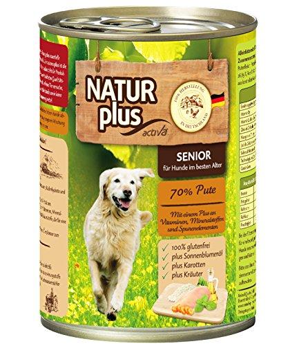 Natur Plus Hundefutter Senior mit 70% Pute - getreidefrei (6 x 400 g)
