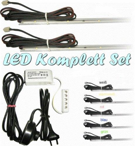 LED Glasbodenbeleuchtung 2er Kompl.-Set 560mm, warmweiß