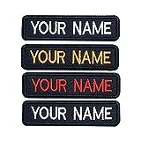 Parche de nombre bordado personalizado, 2 uds Etiqueta de nombre táctica personalizada, cierre de gancho / hierro para múltiples bolsas, ropa, chaquetas, camisas de trabajo, arnés para perros
