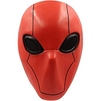 Halloween Masque Rouge Noir Cosplay Costume Adulte PVC Casque Prop Murdock Cosplay Casque