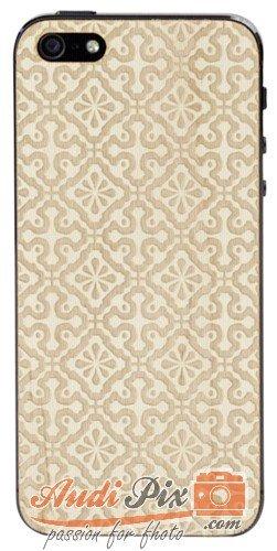Lazerwood 25400 - Cover in Legno per Apple iPhone 5/5S incl. Pellicola Protettiva per Display, Motivo: Clementine, Colore Acero
