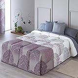 Confecciones Paula - Edredón conforter LUGO - Cama 105Cm - Color Lila