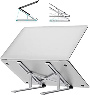 Mesa Soporte para Computadora Portátil Escritorio De Aluminio Soporte De Elevación De Escritorio Radiador Plegable Base Portátil Portátil (Color : Silver, Size : 24 * 4.3cm)