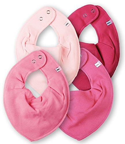 Pippi 4er Set Baby Dreieckstuch Halstuch Lätzchen PINK
