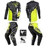 O'Neal Element Ride Black/Yellow Neon Men motocross MX off-road dirt...
