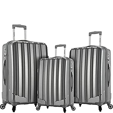 Rockland Barcelona 3 Polycarbonate/Abs 6 Pc. Travel Set and Luggage Cover