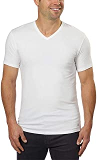 Cotton Stretch V-Neck, Classic Fit T-Shirt, Men's...