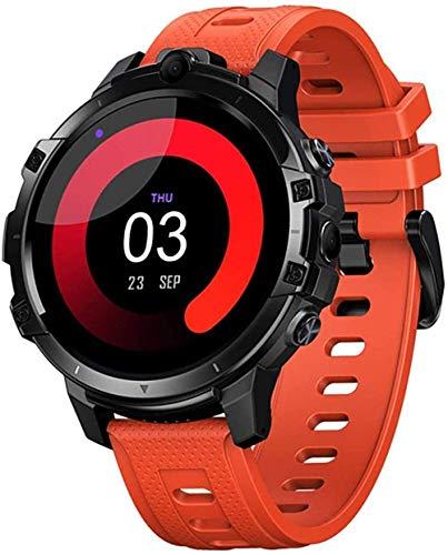 Reloj inteligente Smartwatch fitness tracker 1.6 pulgadas pantalla grande 830 mAh gran capacidad de la batería 4G+64G tarjeta SIM de memoria grande se puede insertar GPS navegación global-naranja