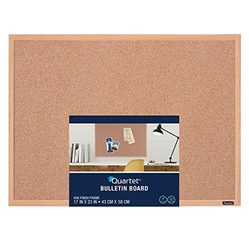 Quartet - Tablero de corcho para anuncios, Marco con acabado de roble, Marrón, 1 paquete