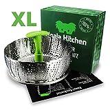 Edelstahl Dampfgarer Einsatz für Baby-Nahrung geeignet von Koala Kitchen - Faltbarer...
