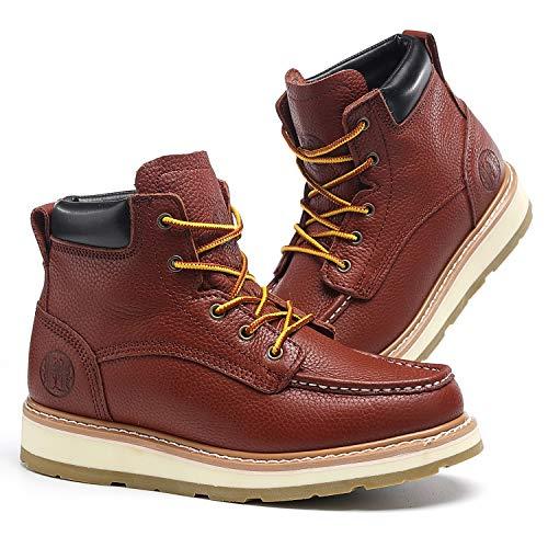 TIANXING 6' Work Boots for Men Composite Soft Toe Waterproof Slip Resistant Anti-Puncture Moc Toe...