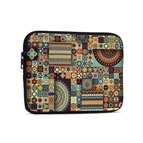 Bolsas para Laptop Ancient Floral Mandala Tribal Style iPad Pro Estuche de Transporte Compatible con iPad 7.9/9.7 Inch Bolsa Protectora de Neopreno a Prueba de Golpes con Cremallera y asa