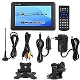 Wosume Car TV Digitale, DVB-T2 TV Digitale ad Alta sensibilità per Auto Stereo Surround 1080P Car Television(10 Pollici)