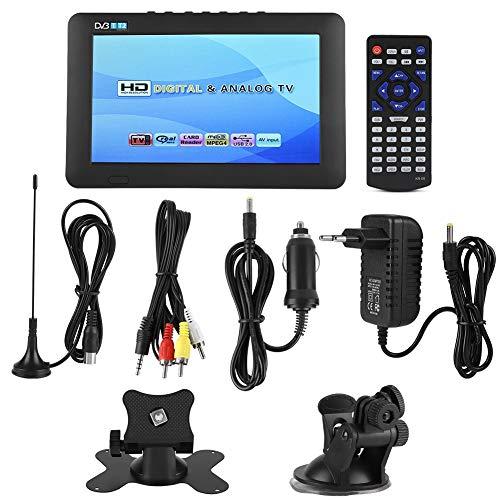 Qinlorgo Televisión Digital portátil, DVB-T2 Alta sensibilidad TV Digital para automóvil Práctico estéreo Envolvente 1080P Televisión para automóvil(7 Pulgadas)