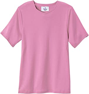 Silverts Disabled Elderly Needs Adaptive T Shirt Solid Color for Women Home Care Apparel