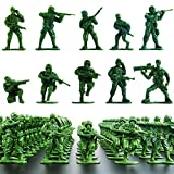 Wankko 2-Inch Plastic Army Men Action Figures, 10 Unique Sculpts, Pack of 100 (Green)