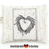 HERBALIND Lavendelkissen zum Schlafen Motiv Kranz - Schlafkissen 20x25cm gefüllt mit getrockneten...