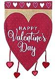 Briarwood Lane Happy Valentine's Hearts Burlap Garden Flag Holiday Love 12.5' x 18'