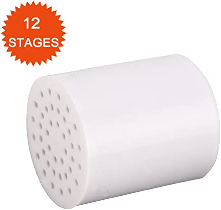 Neady 12-Stage Replacement Shower Water Filter Cartridge High Output Universal Shower Filter Cartridge for Hard Water to Remove Chlorine and Flouride
