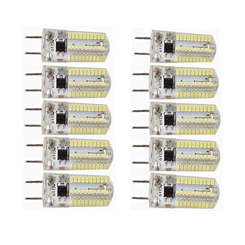 Cicongzai Dimbare G8 LED-lamp 4 W vervangt 30 W T4 G8 halogeenlampen dubbele spindel 220 V G8 verlichting voor verlichting onder keukenkasten, onderkast (10 stuks)