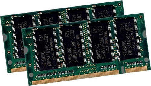 1GB Dual Channel Kit SAMSUNG original 2 x 512MB 200 pin DDR-333 (PC-2700, 333Mhz, CL2.5) SO-DIMM double side (M470L6524DU0-CB3) für NOTEBOOKs - 100% kompatibel zu DDR-266 (PC-2100, 266Mhz, CL2.5)