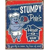 ブリキ看板 Stumpy Pete's Ham (1794) ティンサインプレート ティンサインボード アメリカ雑貨 アメリカン雑貨