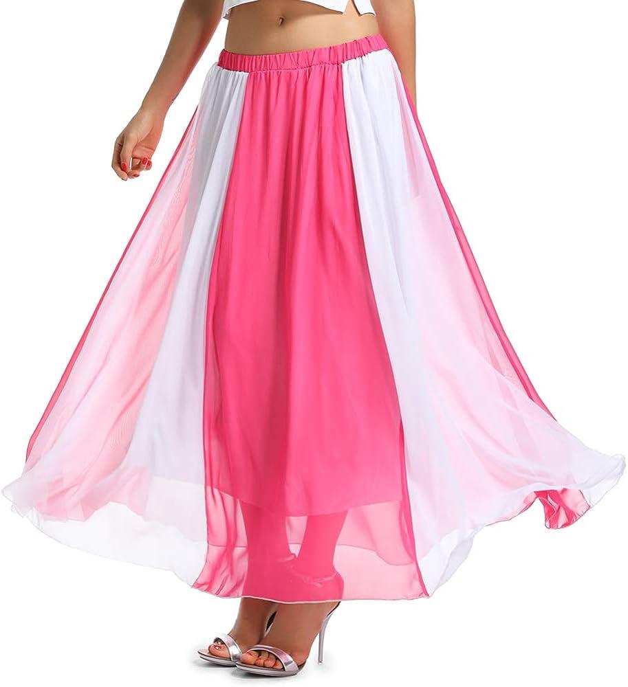 OCHENTA Women's Giant Swing Full Circle Skirt Flowing Maxi Skirt
