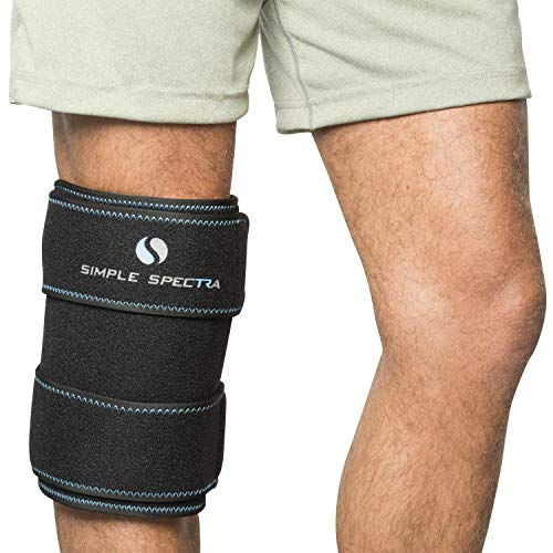 "Ice Pack Wrap - Reusable Flexible Gel Clay with Adjustable Strap | Hot & Cold Compress Therapy Pain Relief and First Aid Injuries - Best for all Joints & Muscles, Knee, Back, Shoulder - Large 14"" x 8"""