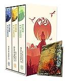 Le trône de fer (A game of Thrones) Coffret en 3 volumes : Tome 1, Le trône de fer ; Tome 2, Le donjon rouge ; Tome 3, La bataille des rois. Avec une carte
