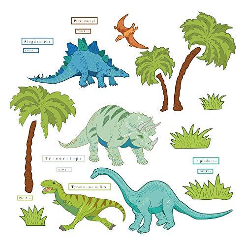 decalmile Vinilos Dibujos Animados Dinosaurio Selva Pegatinas Pared De
