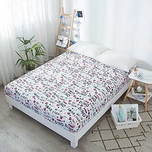 LUOYLYM Euro Cartoon Christmas Print Matratzenschoner Wasserdicht Kinderbett Matratzenbezug Elastisch Für Blätter Einzel L11Twin(99 * 190+36)