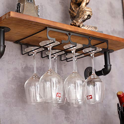 Searchyou Soporte para Copas de Vino con 3 rieles - Portacopas de Metal, sostiene Copas de Vino y Copas de Cristal en la Cocina, Bar o Restaurante