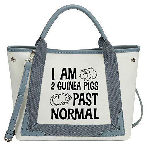 So\'each Damen Handtasche mit Tragegriff I\'m 2 Meerschweinchen, normale Schultertasche, Blau - blau - Größe: Medium