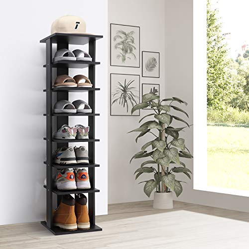 Olbrus 7-Tier Shoe Rack, Entryway Wooden Shoes Storage...