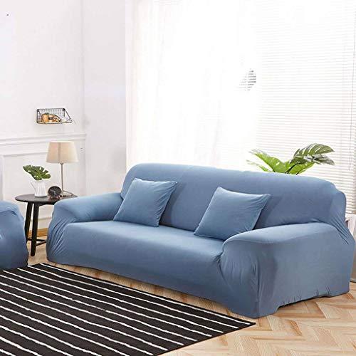 SLOUD Funda de sofá, para 1,2,3,4 Asiento, Spandex Stretch, con Dos Fundas de Almohada, Funda de sofá Antideslizante-Lago Azul-3 plazas