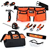 My First Tool Set by DIYjr – Real Tool Set for Kids Steel Forged Tools for Children Kids Toolbelt...