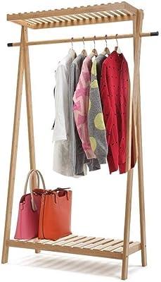 Amazon.com: Qfgis - Perchero de bambú para dormitorio ...