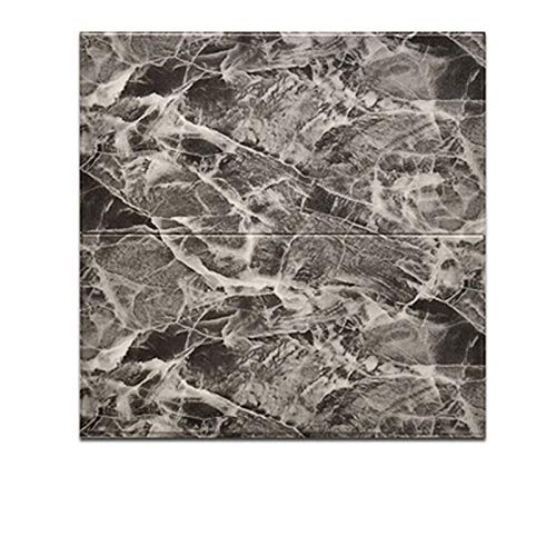 Verdickte Tapete Selbstklebende Schlafzimmer Decke Aufkleber Hintergrund-Tapete 3D Dreidimensionales Schaum-Wand-Aufkleber (10 Stück) (Color : Gray)