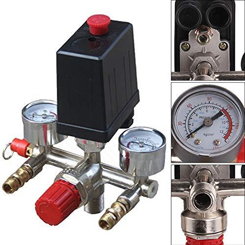 Druckregler mit Druckschalter, Kompressorschalter Druckschalter für Kompressor Druckwächter 230V