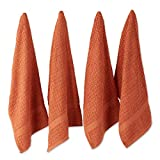 DII Cotton Waffle Terry Dish Towels, 15 x 26' Set of 4, Ultra Absorbent, Heavy Duty, Drying & Cleaning Kitchen Towels-Spice