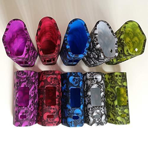 KENTT 5 set random color Design Skull Head Protective silicone case For Wismec RX2/3 RX 2/3 Reuleaux 150W 200W