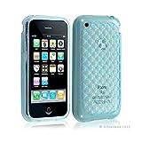 Seluxion - Housse étui coque en gel transparent pour Apple Iphone 3G/3Gs motif damier couleur bleu